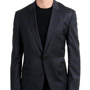 "Hugo Boss ""C-Jetson"" Wool Plaid Blazer Sport Coat"